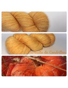 """""""Citrouille de Cendrillon""""Fil fingering Alpaga Rose Fibre"""