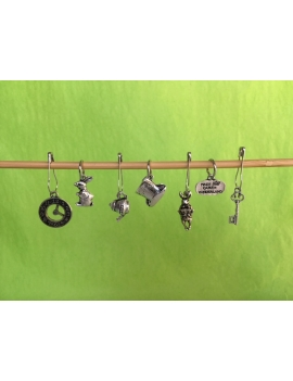 """Alice in Wonderland"" Stitch Markers"