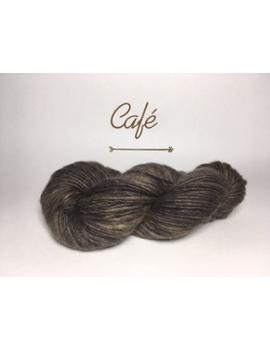 """Café"" Fil Bulky Lopi 50 % fine alpaga 50 % Mouton Ile de France"