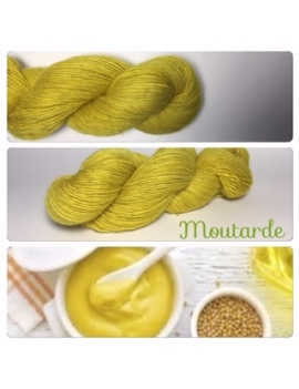 """Moutarde"" Single fingering Alpaca Tencel"