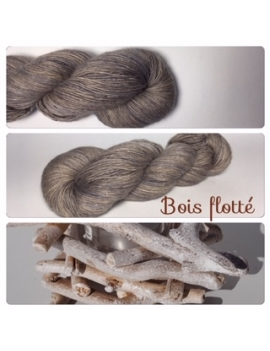 """Bois flotté"" Single fingering Alpaca Tencel"
