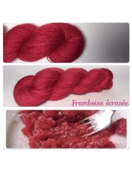"""Framboises écrasées"" Single fingering Alpaca Tencel"