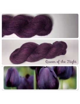 """Queen of the Night"" Single fingering Alpaca Tencel"