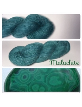 """Malachite"" Single fingering Alpaca Tencel"