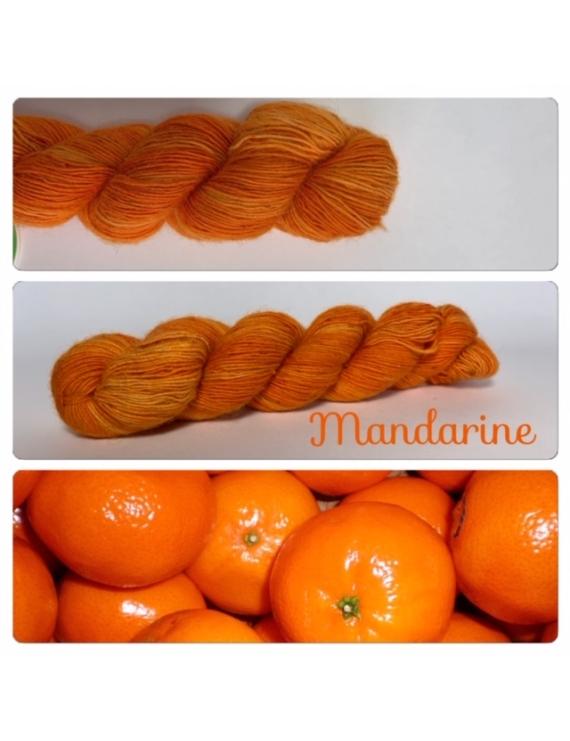 """Mandarine"" Single fingering Baby Alpaga"