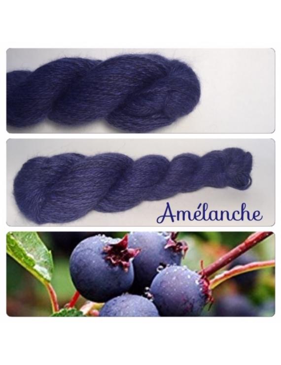 """""""Amelanche"""" Angora & Baby Alpaga Noir"""
