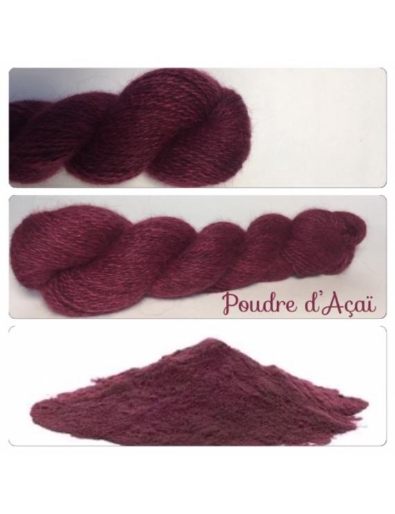 """Poudre d'AçaÏ"" Angora & Baby Alpaga Noir"