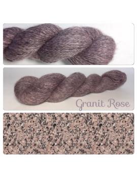 """Granit Rose"" Angora & Baby Alpaga Noir"