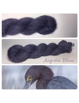 """""""Aigrette Bleue"""" Angora & Baby Alpaga Noir"""
