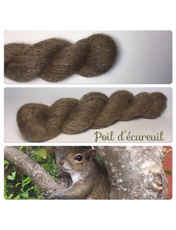 """Poil d'ecureuil "" Angora & Baby Alpaga Noir"