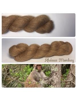 """""""Rhesus Monkey """" Angora & Baby Alpaga Roux Moyen"""