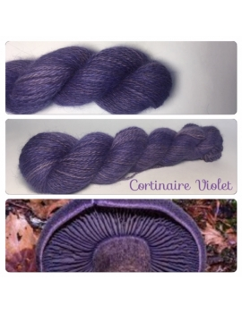 """Cortinaire Violet "" Angora & Baby Alpaga Roux Moyen"