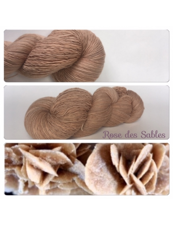"""Rose des Sables"" Fil Single Fingering Mérinos"