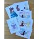 Carte Postale LILY et NEIGE tricotent