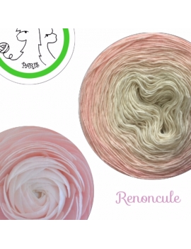 """Renoncule"" Fil fingering Alpaga Tencel (long gradient yarn cake)"