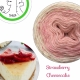 """Renoncule"" Fil fingering Alpaga Tencel (long gradient yarn cake)"