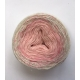 """Strawberry Cheesecake"" Single fingering Alpaga Soie Angelina  (long gradient yarn cake)"