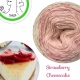 """Strawberry Cheesecake"" Fil fingering Baby Alpaga et Soie (long gradient yarn cake)"
