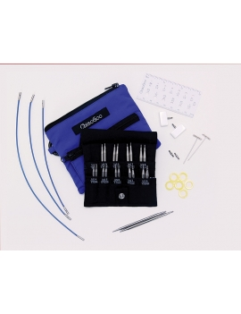 "Chiaogoo Twist Shorties Blue Interchangeable Knitting Set 2"" et 3"""