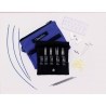 """Chiaogoo Twist Shorties Blue Interchangeable Knitting Set 2"""" & 3"""""""
