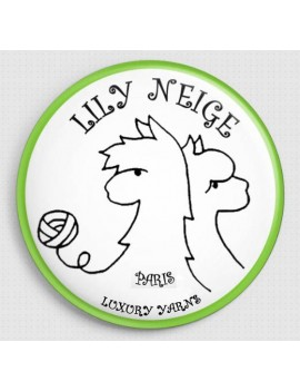Badge Lily Neige