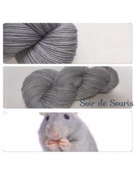 """Soir de Souris"" Fil DK 100% Mérinos"