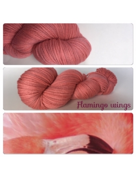 """Flamingo Wings"" Fil DK 100% Mérinos"