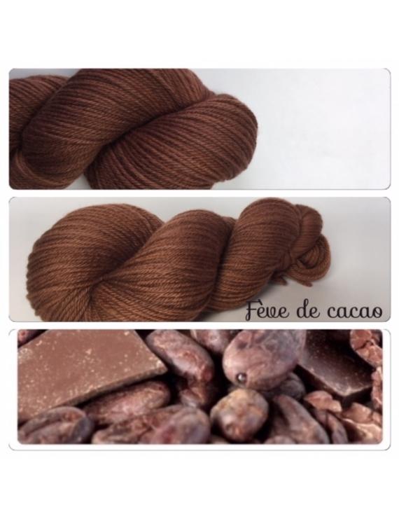 """""""Féve de Cacao"""" Fil DK 100% Mérinos"""