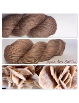 """""""Rose des Sables"""" Fil Fingering 100% Mérinos"""