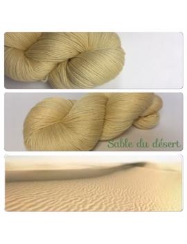 """""""Sable du Desert Fil Fingering 100% Mérinos"""