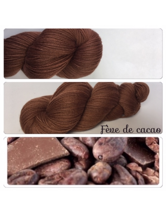 """Fève de Cacao"" Fil Fingering 100% Mérinos"