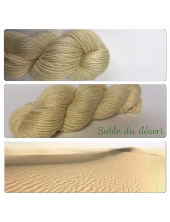 """""""Sable du Desert"""" Fil DK 100% Baby Alpaga"""