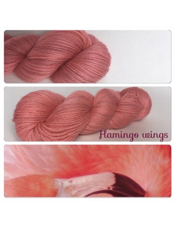 """""""Flamingo Wings"""" Fil DK 100% Baby Alpaga"""