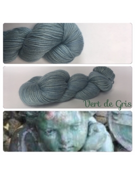 """Vert de Gris"" Fil DK 100% Baby Alpaga"