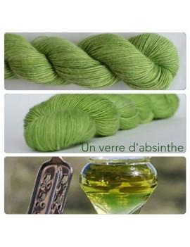 """Un verre d'absinthe"" Single fingering Alpaga Seacell"