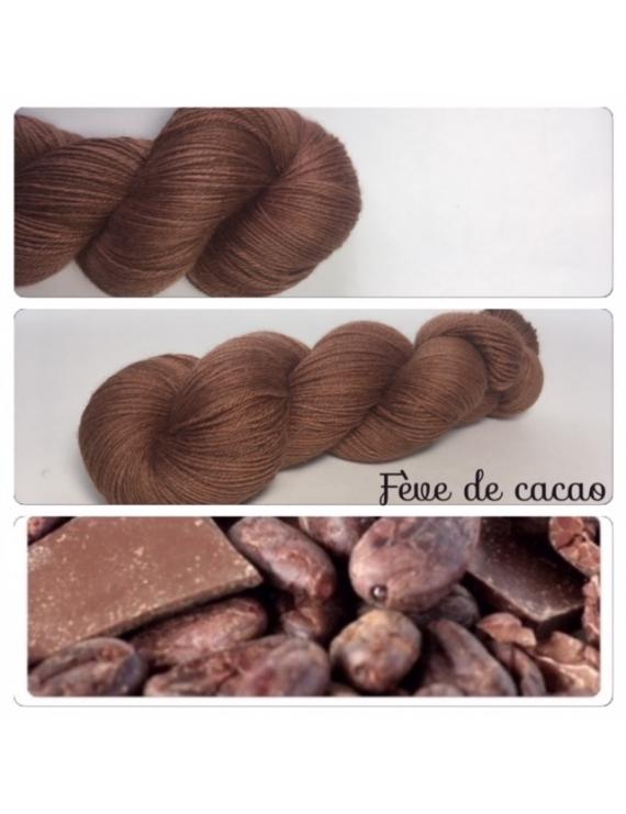 """Fève de Cacao"" Fil Fingering 100% Baby Alpaga"