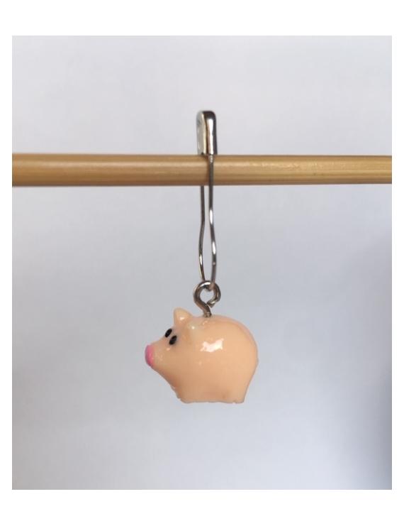 """Little Pig"" Removable Stitch Marker"