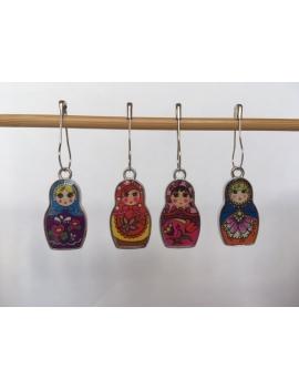 """""""Petites Matriochkas""""  lot de 4 Anneaux marqueurs Amovibles"""