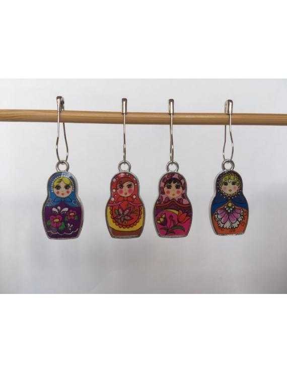 """""""Petites Matriochkas""""  lot de 4 Anneaux marqueurs Amovible"""