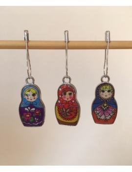 """""""Petites Matriochkas""""  lot de 3 Anneaux marqueurs Amovibles"""