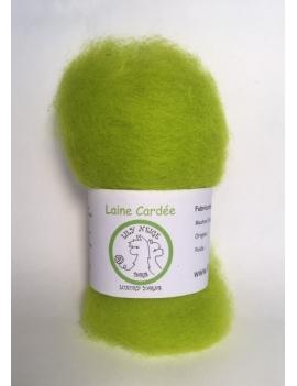 """""""Lime"""" fibre cardée pour feutrage 100 % Alpaga"""