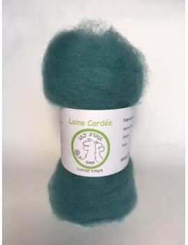 """Lagon"" fibre cardée pour feutrage 100 % Alpaga"