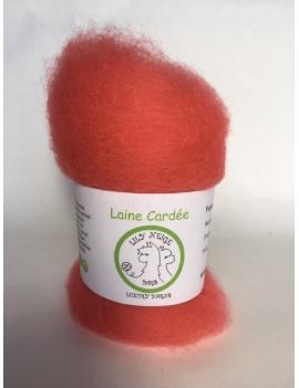 """""""Bubble Gum"""" fibre cardée pour feutrage 100 % Alpaga"""