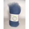 """""""Bleu Grisé"""" fibre cardée pour feutrage 100 % Alpaga"""