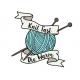 """Knit Fast Die Warm Pelote"" Pins"