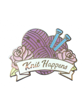 """Knit Happens"" Pins"