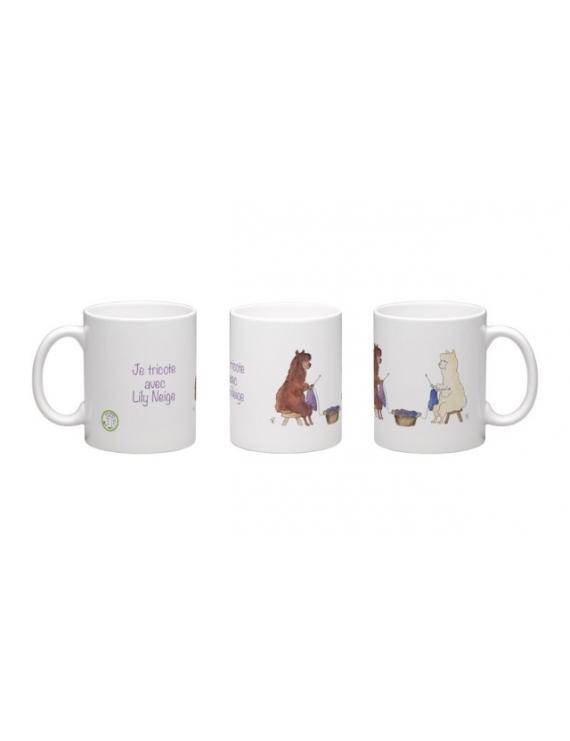 """Je tricote avec Lily Neige"" Mug"