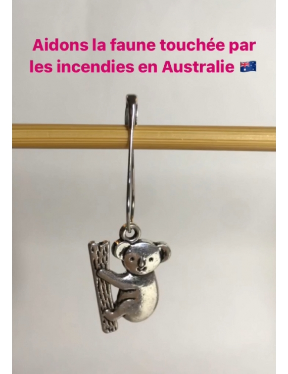 """""""Koala"""" Removable Stitch Marker"""