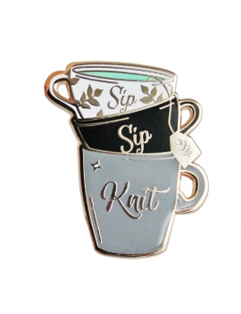 """Sip Sip Knit"" Pins"