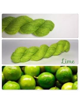 """""""Lime"""" Alpaga Merinos Ramie"""